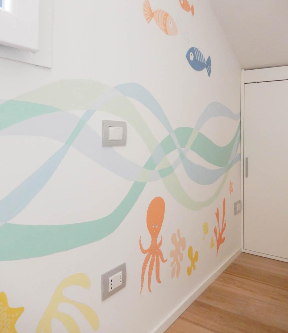 Decorazione parete cameretta adesivi da parete murali - Decorazioni pareti bambini ...
