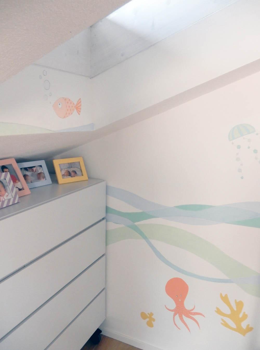 Decorazioni muri camerette disegno idea disegni per - Decorazioni pareti bambini ...